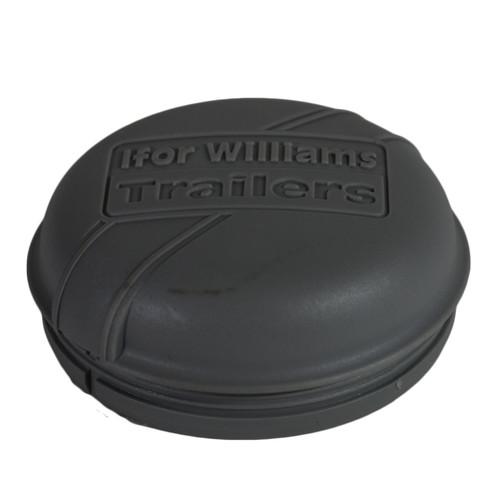 Grey Plastic Hub Cap Grease Cap Dust Bearing Cap 76mm For Ifor Williams Trailers
