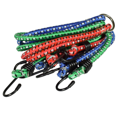 """3pc 40"""" x 8mm Bungee Bungees Rope Straps Tie Downs Storage Holder Fasteners"""