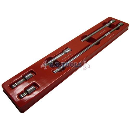 "1/2"" drive wobble extension bar set 5pc set 50mm - 450mm by BERGEN AT457"