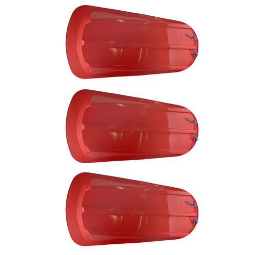 3 Plastic Heavy Duty Outdoor Snow Sledge Toboggan Sleigh Bobsled Bobsleigh