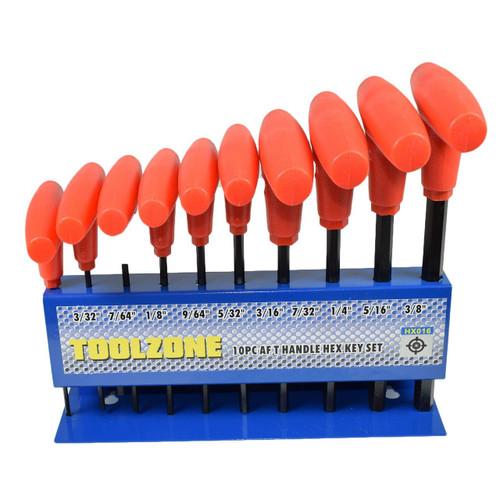 """Imperial AF SAE Allen Allan Hex T Bar T handle Set 10pcs 3/32"""" – 3/8"""" In Rack"""