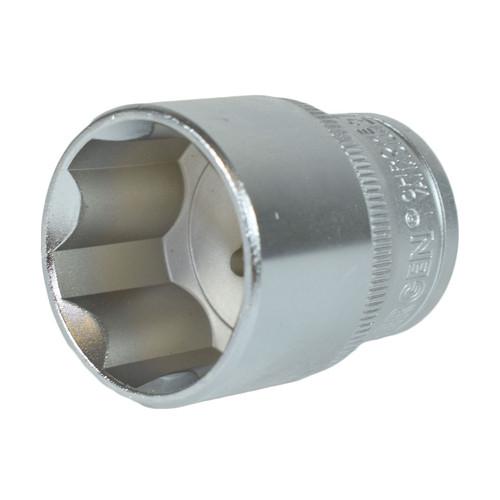 "1/2"" Drive 27mm Metric Super Lock Shallow 6-Sided Single Hex Socket Bergen"
