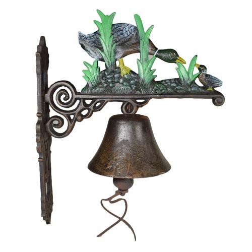 Duck Mallard Duckling Bell Cast Iron Sign Plaque Door Wall Fence Gate House