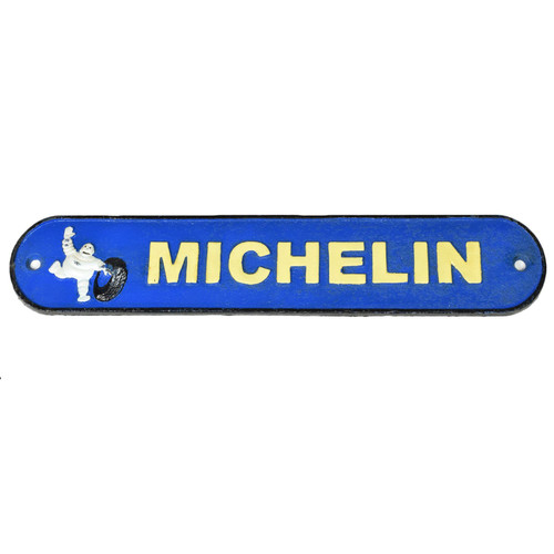 Blue Michelin / Man Cast Iron Sign Plaque Door Wall House Fence Gate Post