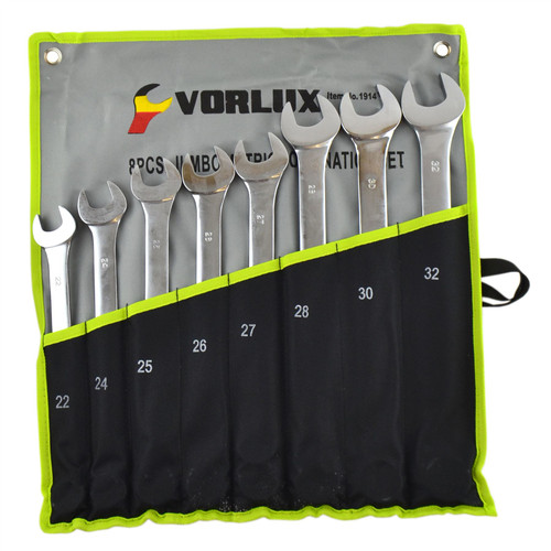Metric Combination Spanner Wrench Extra Large Jumbo Set 22mm - 32mm  8pc