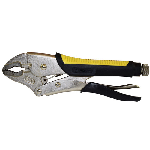 """10"""" Curved Jaw Locking Pliers Adjustable Vise Vice Mole Grips Rubber Handles"""