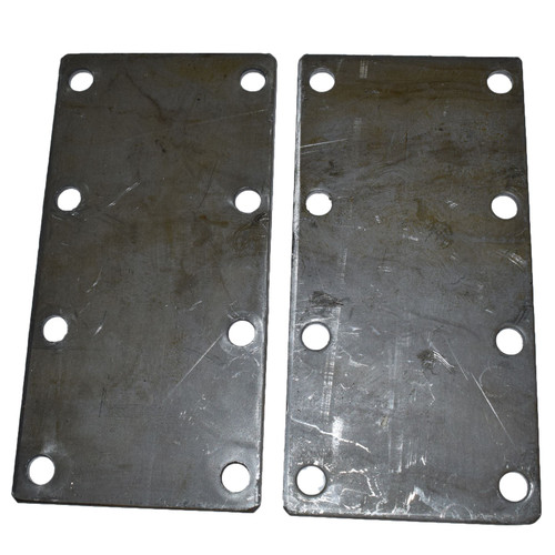 750KG Mounting Plate (Pair) 8 Hole Suspension Unit Welding Weld On Plate