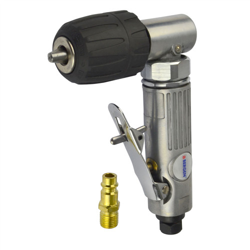 "Right Angle Air drill with 3/8"" keyless chuck 