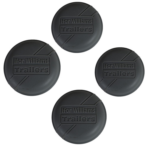 4 x Grey Plastic Hub Cap Grease Dust Bearing Cap 76mm For Ifor Williams Trailers