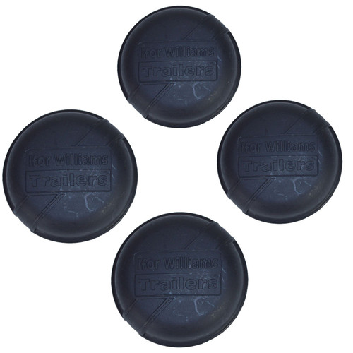 4 Replacement Black Plastic Hub Grease Dust Cap 75mm For Ifor Williams Trailers