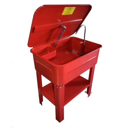 20 Gallon Parts Washer Tank Cleaner Cleaning Bench Standing Degreaser