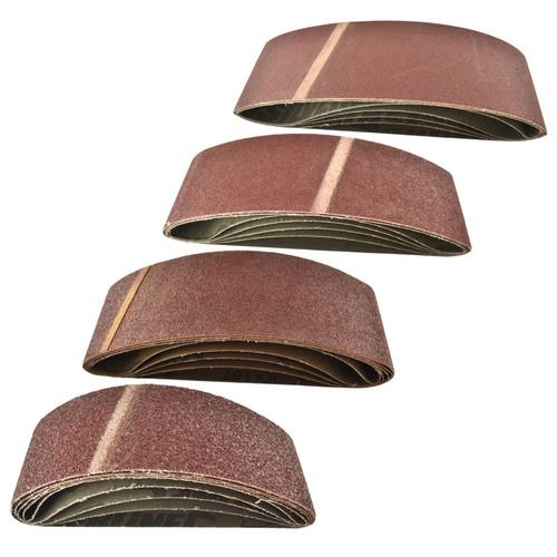 Belt Power File Sander Abrasive Sanding Belts 533mm x 75mm Mixed Grit 20pk