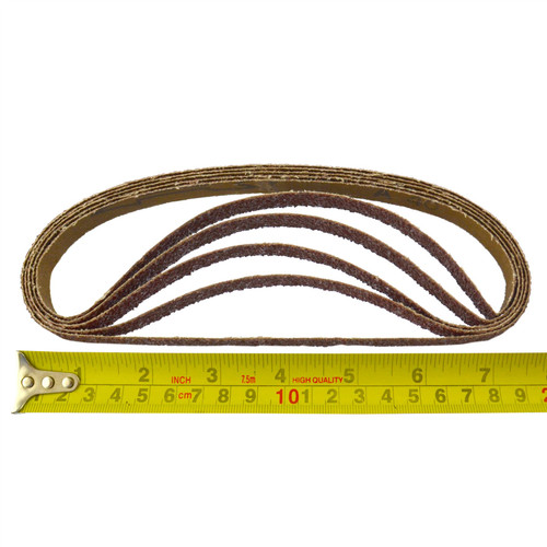 Belt Power Finger File Sander Abrasive Sanding Belts 457mm x 13mm 40 Grit 50pk