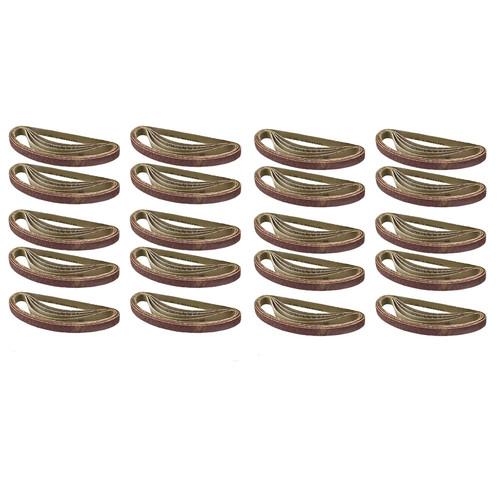Belt Power Finger File Sander Abrasive Sanding Belts 330mm x 10mm 40 Grit 100pk