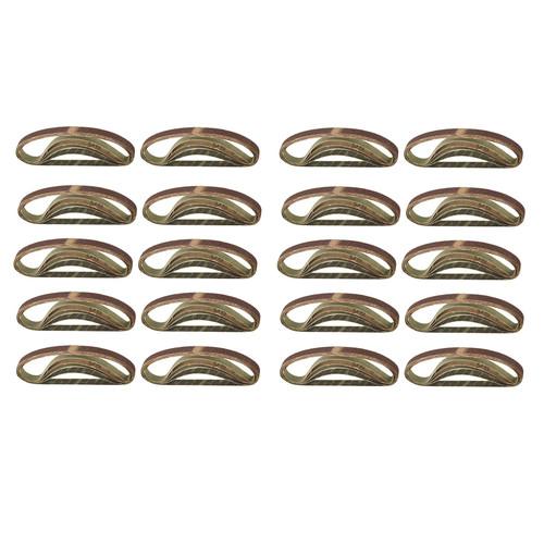 Belt Power Finger File Sander Abrasive Sanding Belts 330mm x 10mm 80 Grit 100pk