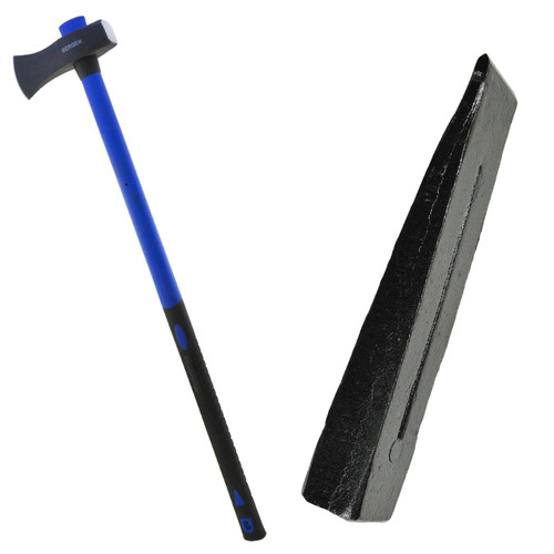 6lb Felling Axe Maul With Fibreglass Handle And 6lb Wood Splitting Chisel Wedge