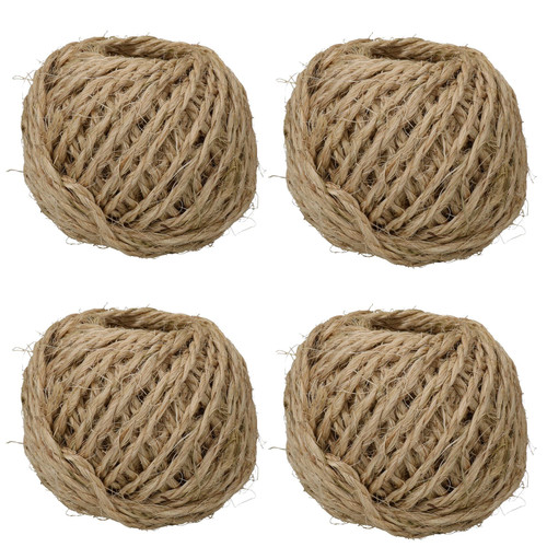 400 Metres 2.5mm Sisal Twine String Jute Ball For Hobby Craft And Gardening Use