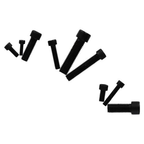 106pc Hex Allen Cap Head Bolts M4 - M10 Carbon Steel Bolt Kits Black Finish