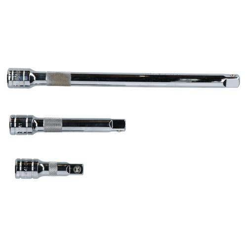 """1/2"""" Drive 3pc Straight Socket Extension Bar Set 75mm 125mm 250mm U S Pro"""