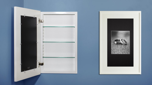 Extra Large White Concealed Cabinet