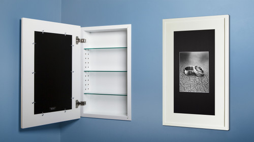 Superieur White (14 X 24) Concealed Medicine Cabinet With Picture Frame Door, Display  Your