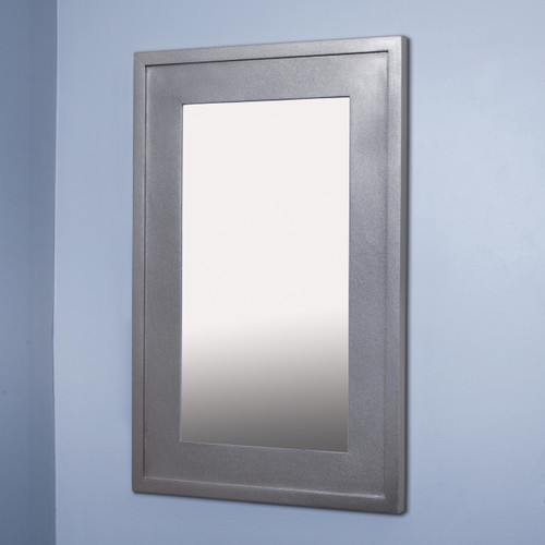 Extra Large Silver Concealed Cabinet Recessed In Wall