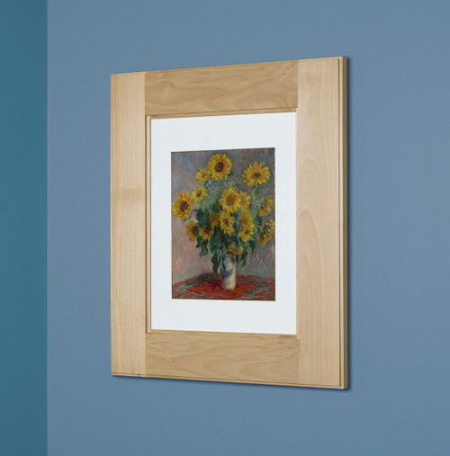 Beau 14x18 Unfinished Shaker Style Recessed Picture Frame Medicine Cabinet