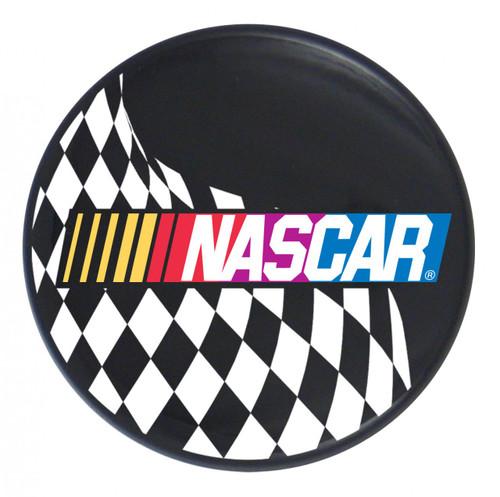 NASCAR Logo w/ Checkered Flag on Black