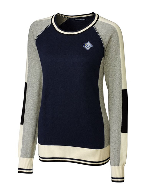 Tampa Bay Rays Ladies Stride Colorblock Sweater