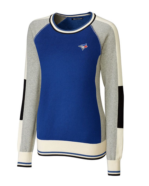 Toronto Blue Jays Ladies Stride Colorblock Sweater