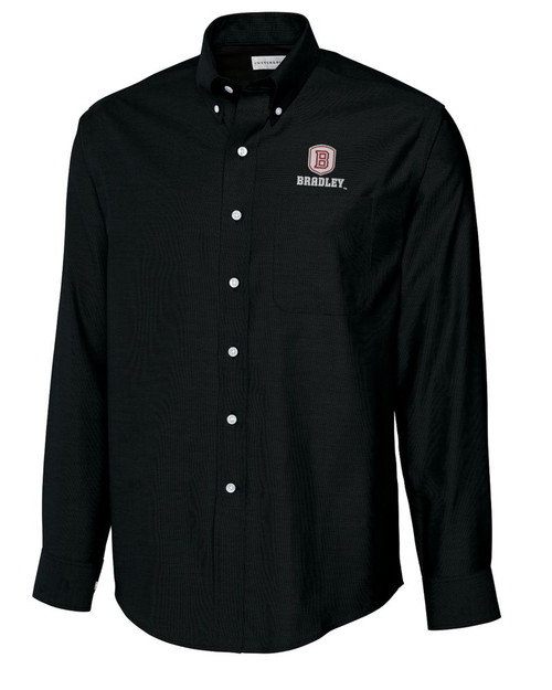 Bradley Braves B&T L/S Epic Easy Care Royal Oxford Shirt