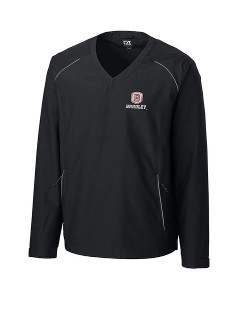 Bradley Braves  CB WeatherTec Beacon V-neck Windshirt