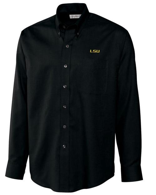 LSU Tigers Men's L/S Nailshead Woven Shirt