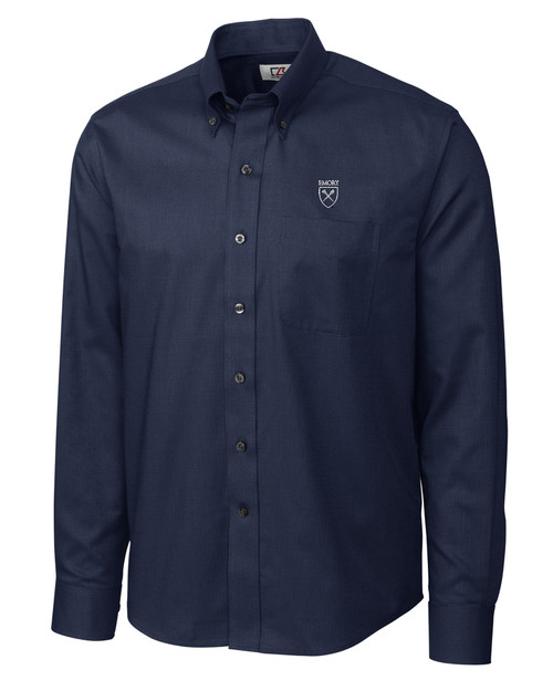 Emory Eagles Men's L/S Nailshead Woven Shirt