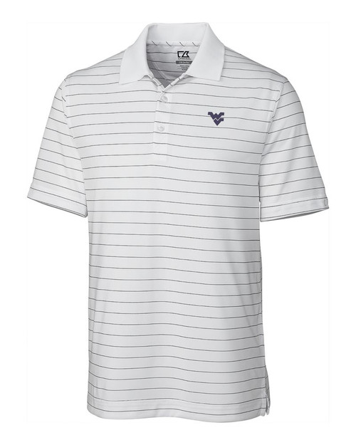 West Virginia Mountaineers  CB DryTec Franklin Stripe  Polo