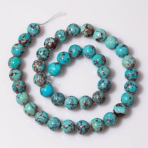 Turquoise Beads (China) 10mm Rounds