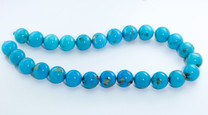 16mm Round Sleeping Beauty Turquoise Beads
