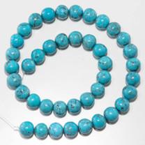 10mm Round Campitos Turquoise