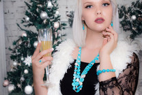 Sleeping Beauty Turquoise & Pearl Necklace