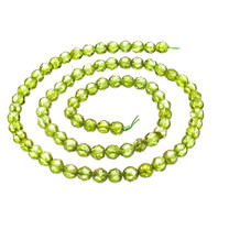Peridot(Arizona) 5mm Faceted Rounds