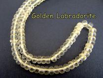 Golden Labradorite (Bytownite)  6mm Rondells GLR6