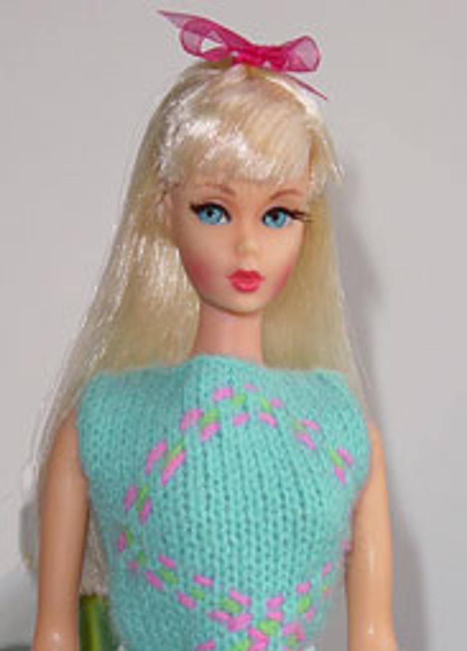 Platinum Blond 17 KatSilk Saran Doll Hair