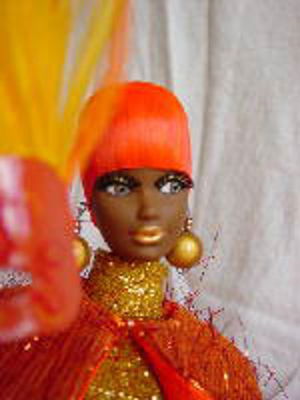 Orange Blossom 30 KatSilk Saran Doll Hair