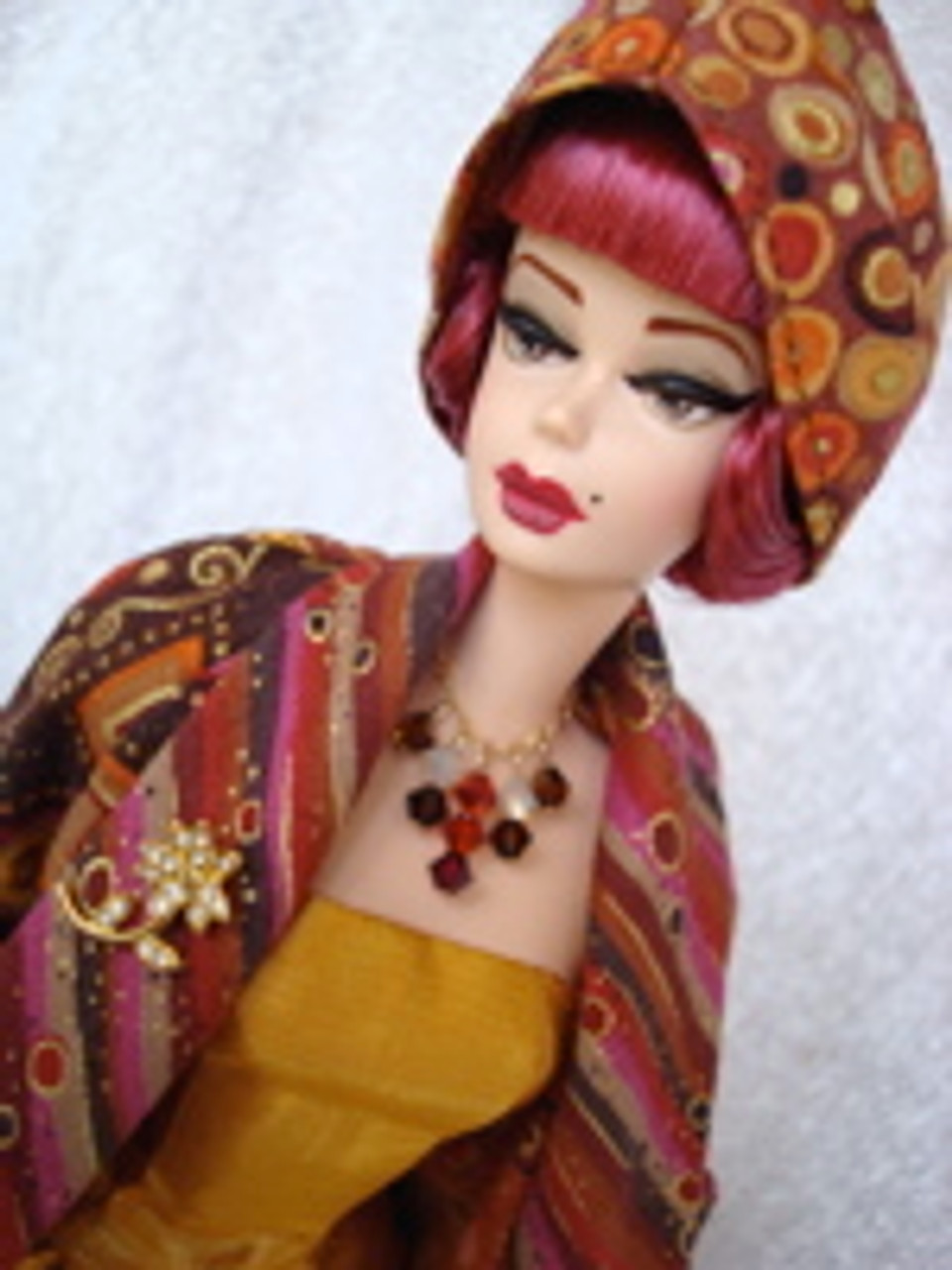 Ruby Tuesday 34 KatSilk Saran Doll Hair