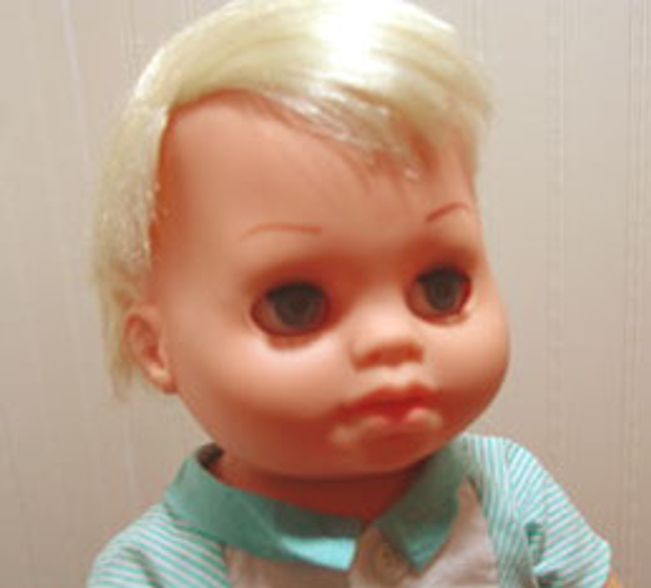 Tiny Chatty Baby Blond 88 KatSilk Saran Doll Hair