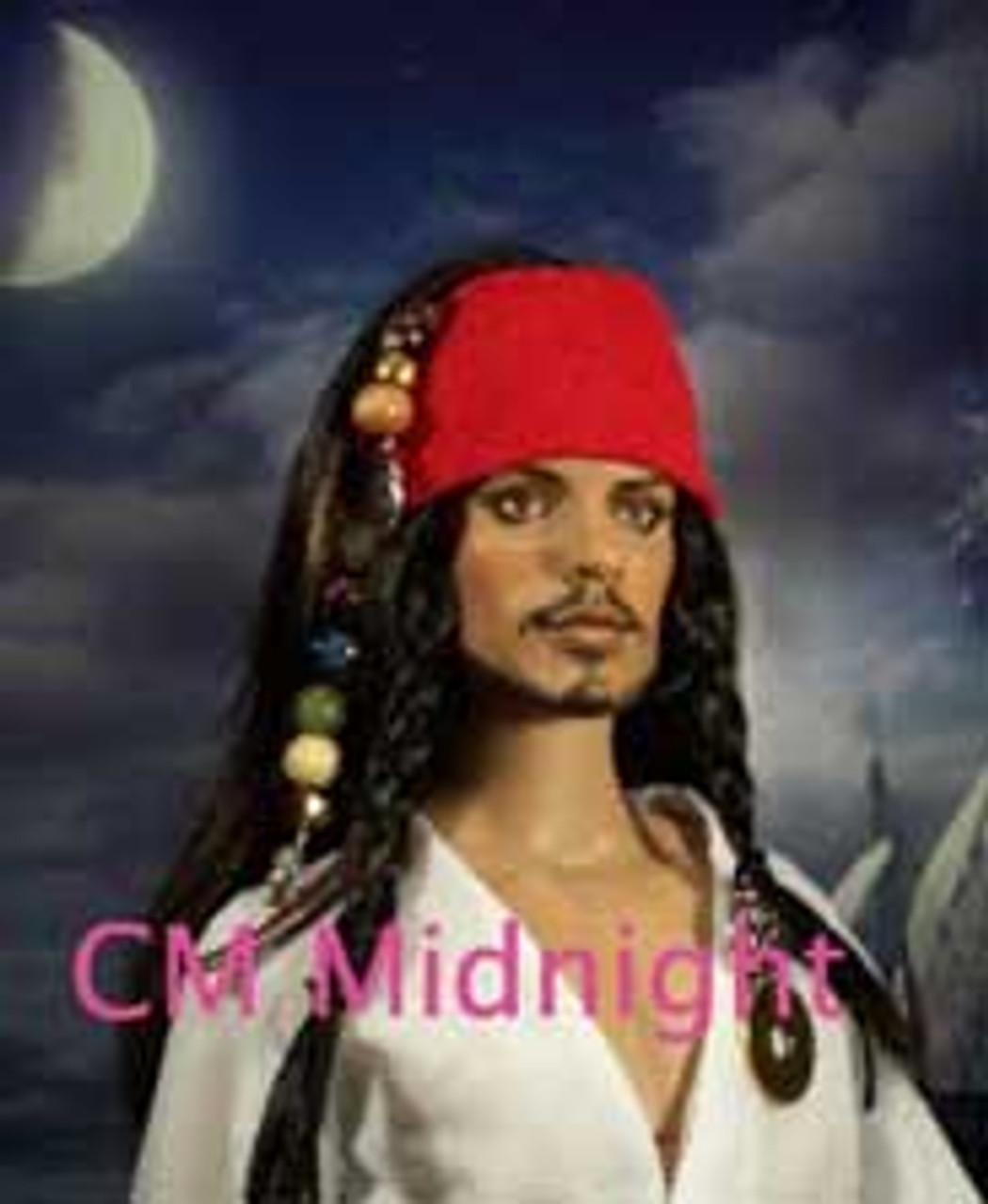 CM Midnight 1 Katsilk® Saran Doll Hair