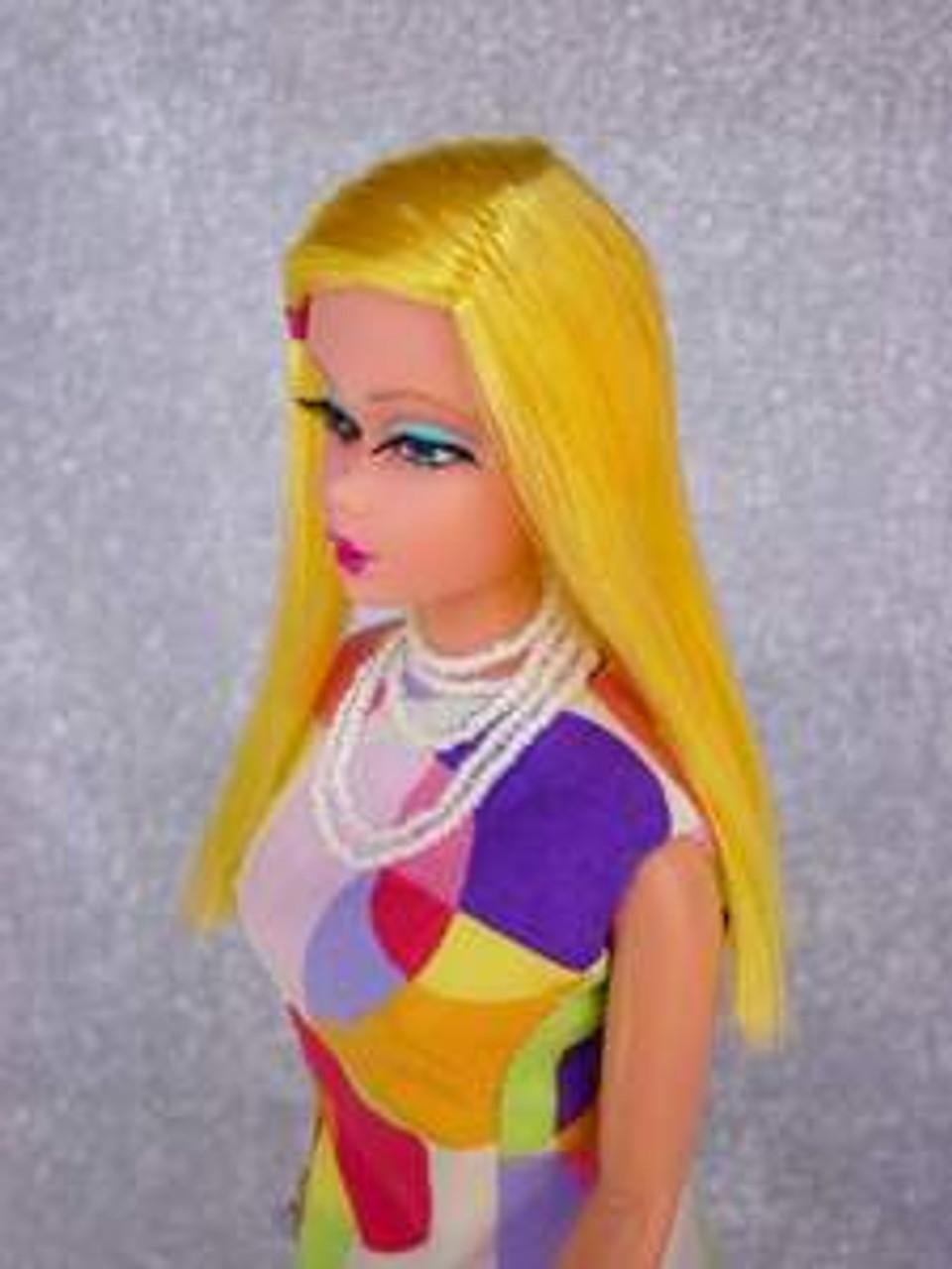 CM Yellow 4 KatSilk® Saran Doll Hair