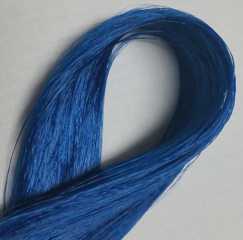 Sapphire Blue 20 KatSilk Saran Doll Hair