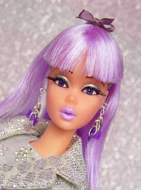 Purple Passion 27 KatSilk Saran Doll Hair