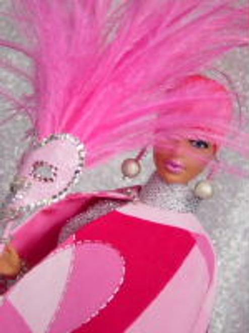 Hot Pink 31 KatSilk Saran Doll Hair
